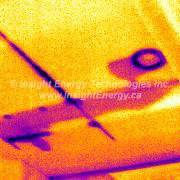 Thermal Image of Hidden Moisture